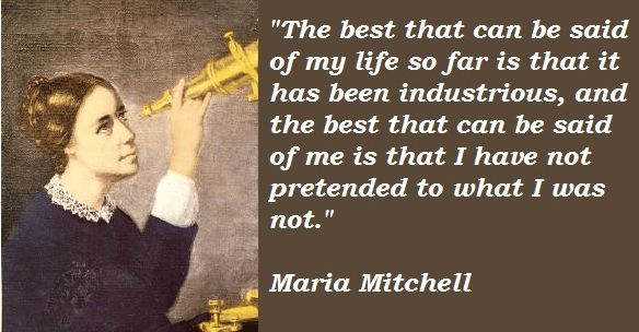 Maria Mitchell The First American Female Astronomer Tribute by ...