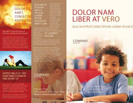 Basic Education Brochure Template Design and Layout, Download Now ...
