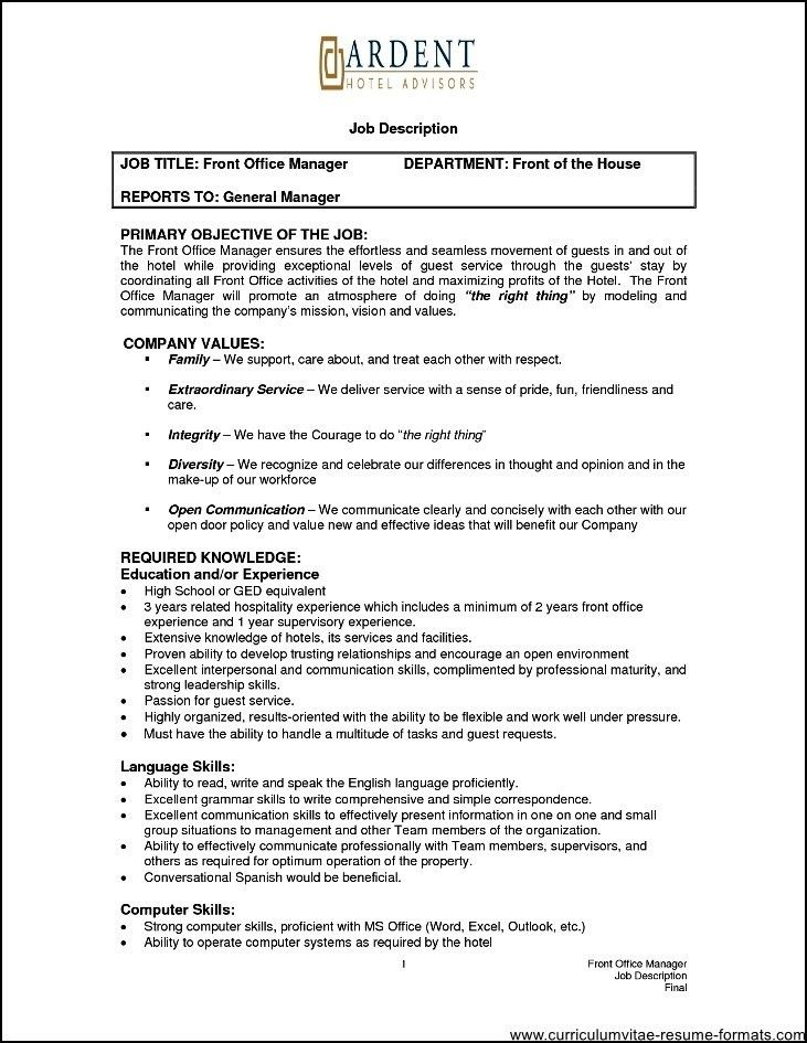 office manager resume skills
