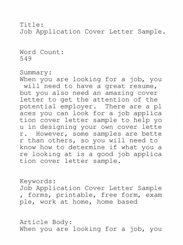 Online Resume Submission Cover Letter. resume email and cv cover ...