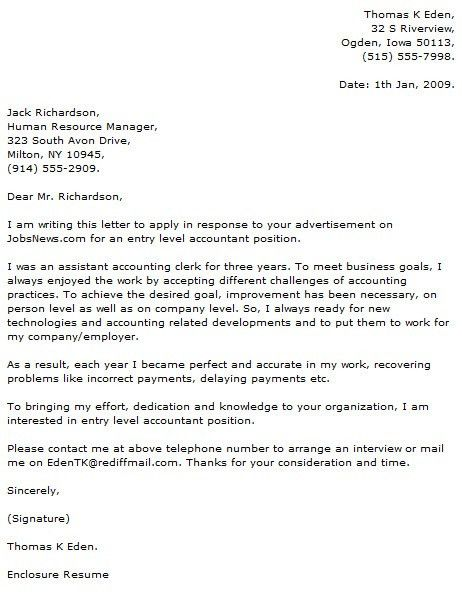 Entry Level Cover Letter Examples - Cover Letter Now