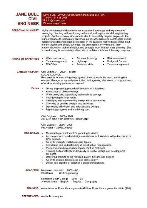 Opulent Design Ideas Technical Resume Template 10 Civil ...