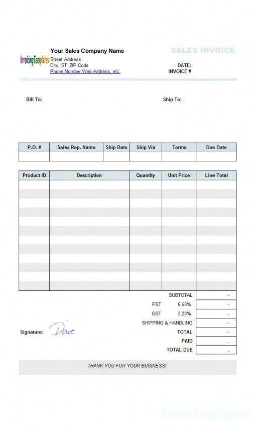 Sales Invoice Template Word 2007 | Design Invoice Template
