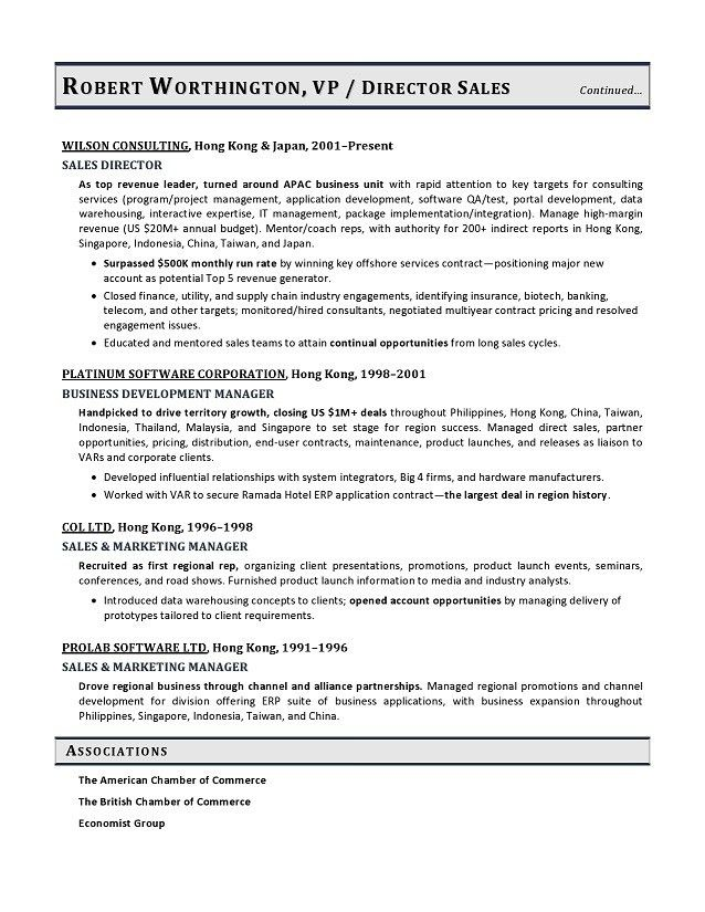 Vice President Sales Sample Resume, VP Sales Resume Example ...