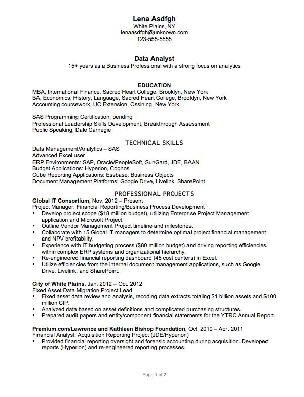 Programmer Analyst Resume Sample Senior