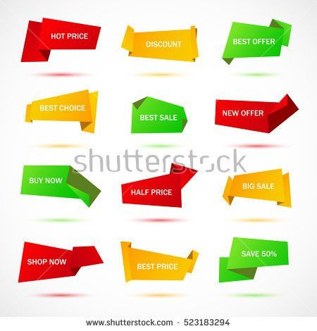Vector Stickers Price Tag Banner Label Stock Vector 533720203 ...
