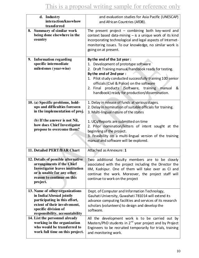Proposal Sample 1