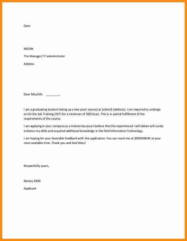 12+ simple application letter example | musicre sumed