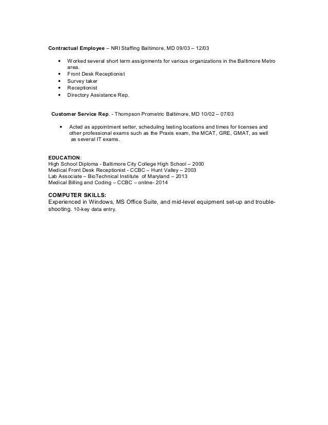Resume for Veronica Gerald