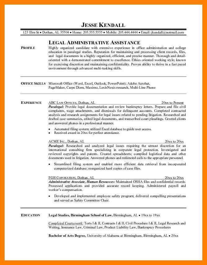 Paralegal Resumes Templates. 4 paralegal resumes examples ...
