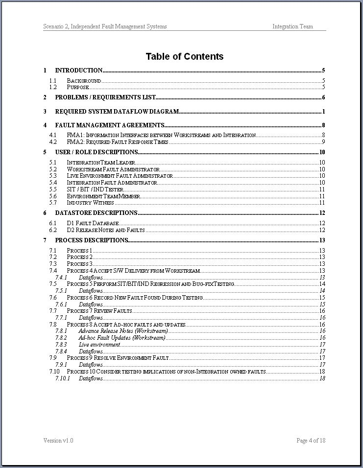 Business Analysis study / example documents taken from real life (UK)