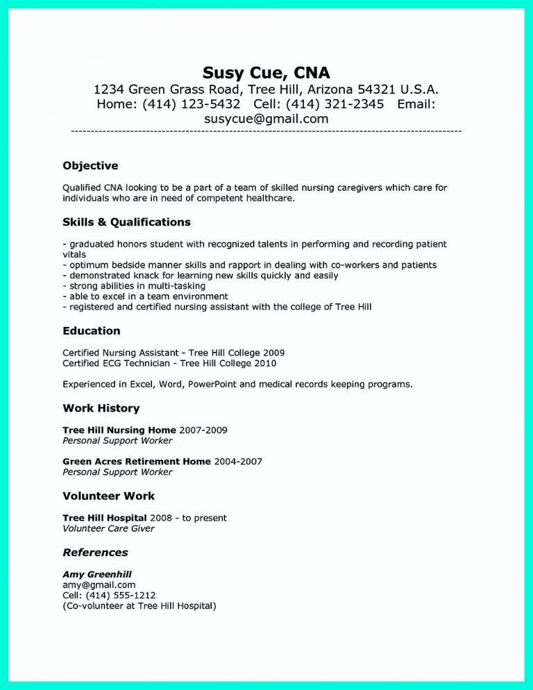 Sample Resume For Cna. Best Sample Resume For Medical Assistant ...