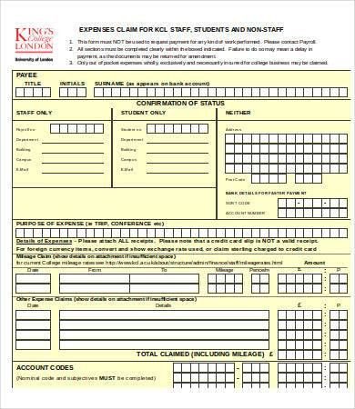 Excel Expense Templates - 9+ Free Excel Documents Download   Free ...