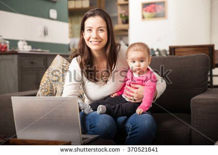 Portrait Cute Babysitter Taking Care Baby Stock Photo 370521425 ...