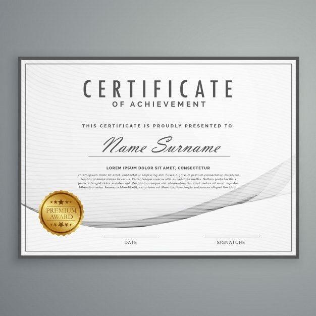 Clean certificate design template Vector | Premium Download