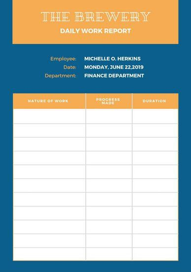 Report Templates - Canva