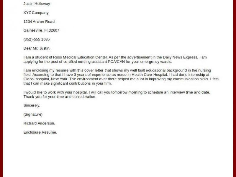 Simple Cover Letter Example. Simple Cover Letter Examples Medical ...