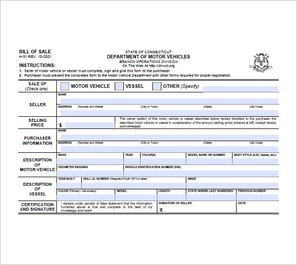 Trailer Bill of Sale – 8+ Free Sample, Example, Format Download ...