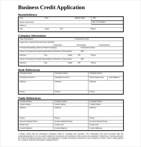 15+ Credit Application Templates – Free Sample, Example, Format ...
