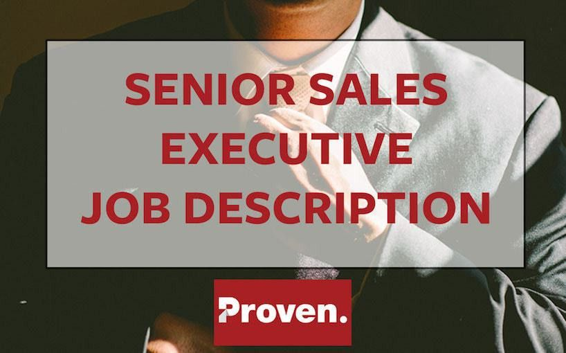 The Perfect Senior Sales Executive Job Description