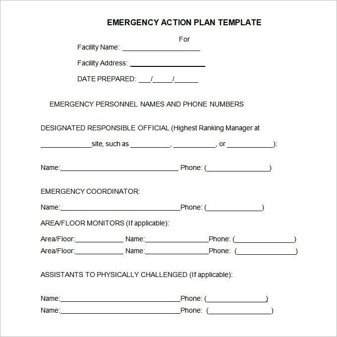 Emergency Action Plan Template | cyberuse