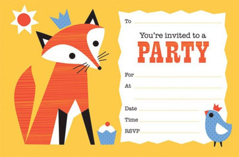 Party Invite Template – frenchkitten.net