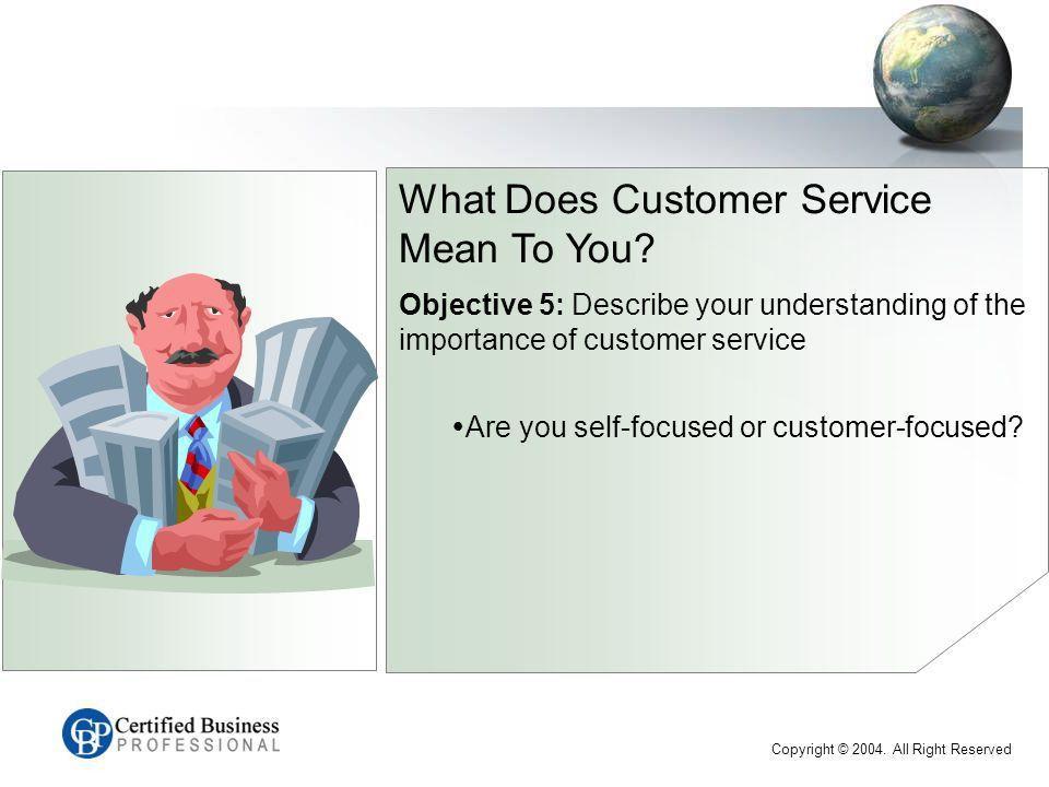 CBP™ Customer Service Series EXAM C Introduction Name Work ...