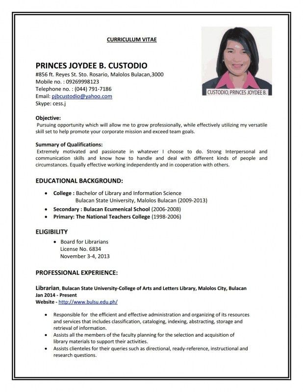How To Make Resume For Job Application   Samples Of Resumes