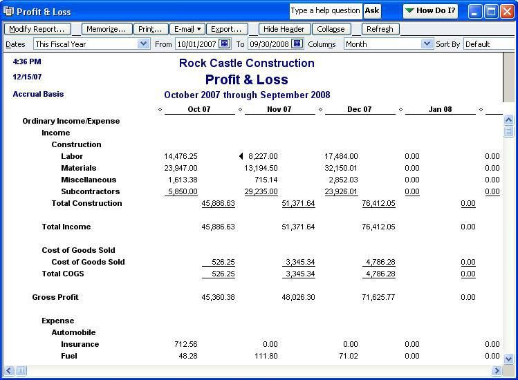 QODBC-Desktop] How to run a Profit and Loss Standard Report in ...