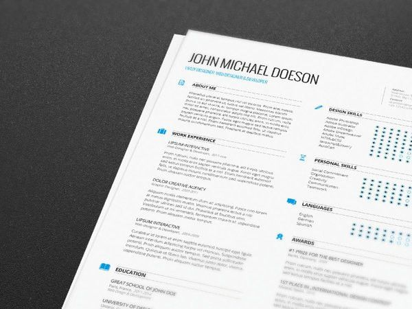 FREE Resume + Cover Letter by Demorfoza, via Behance | Vectors ...