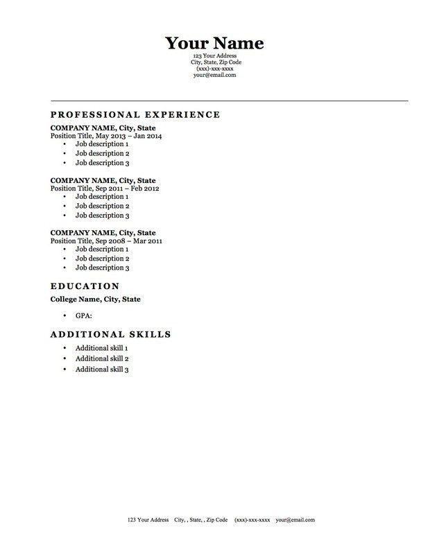 Free Resume Builder Microsoft Word | Template Design