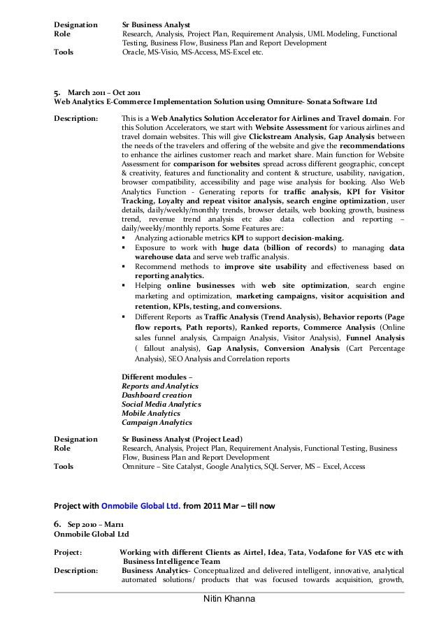 Oracle Business Analyst Sample Resume Top Dissertation