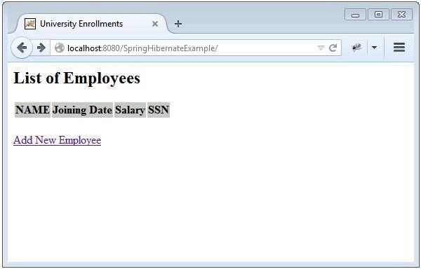 Spring 4 MVC+Hibernate 4+MySQL+Maven integration example using ...