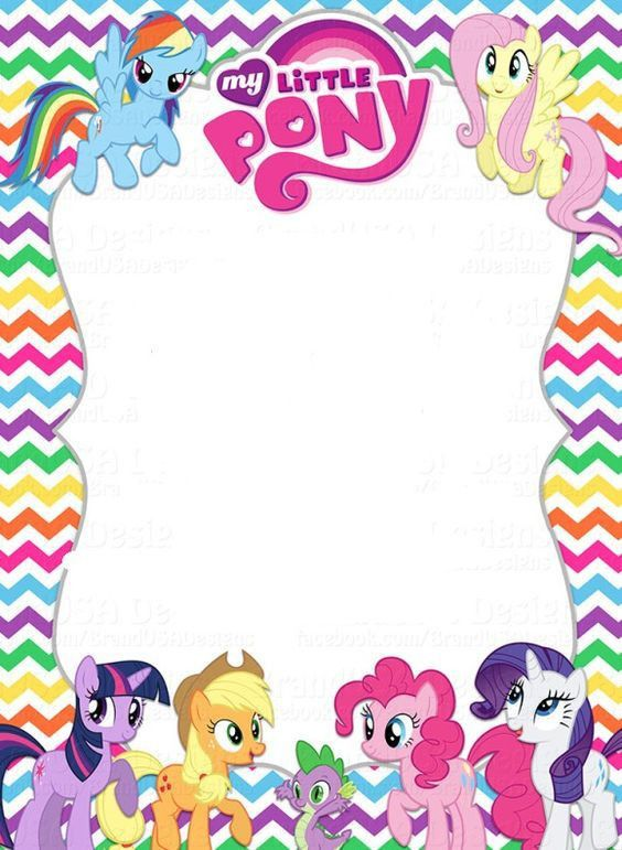 Free Printable My Little Pony Invitations | B-day party ...
