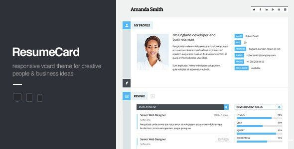 Personal Profile Templates from ThemeForest