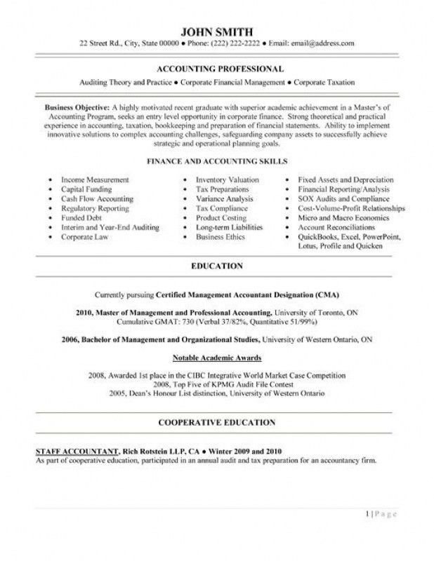 example of accountant resumes