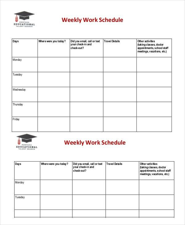 Weekly Schedule Template - 10+ Free Word, Excel PDF Documents ...