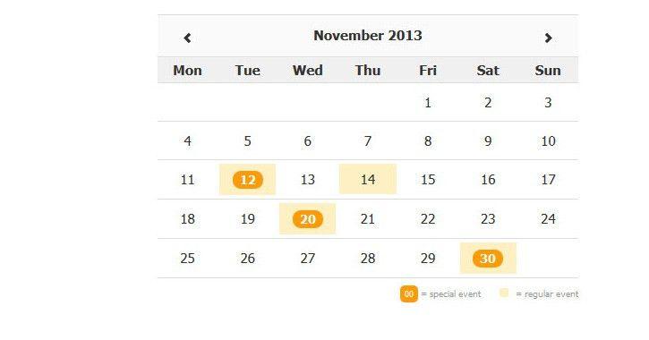 30 Best Free Calendar & Datepicker jQuery Plugins