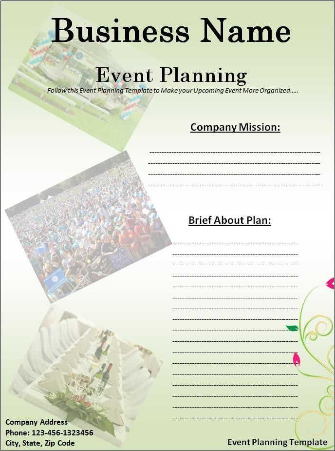 Event Planner Template | Free Printable Word Templates,