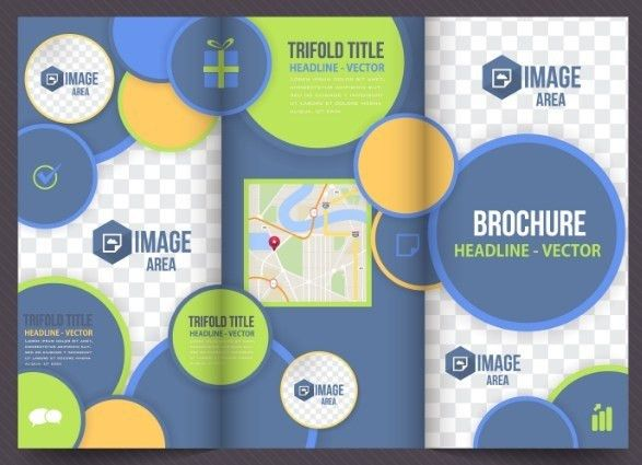 Free Business Tri-fold Brochure Template Vector - TitanUI