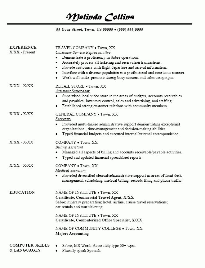 create this cv. travel consultant resume australia resume travel ...
