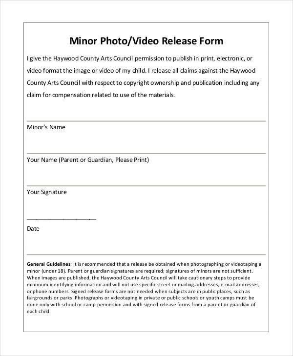 Property Release Form. Property Photo Release Photography Release ...