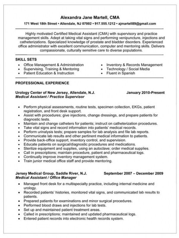 Sample resume of a medical assistant with medical assistant resume ...