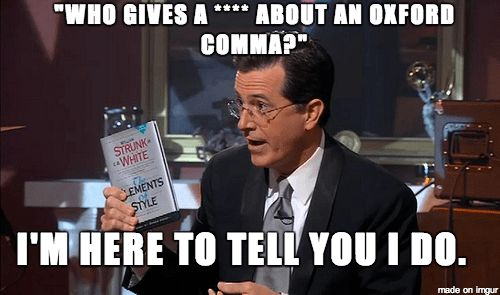 Debate Argument: Resolved: The Oxford comma should be mandatory ...