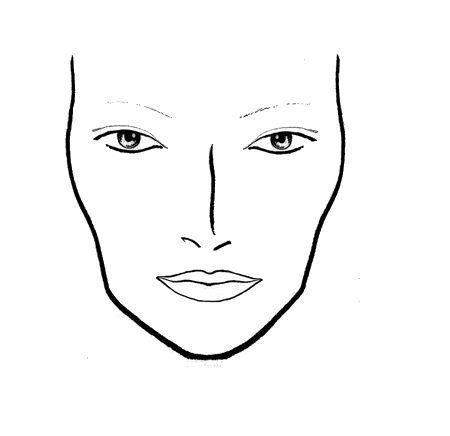 Mac Makeup Face Charts Templates | croquis | Pinterest | Face ...