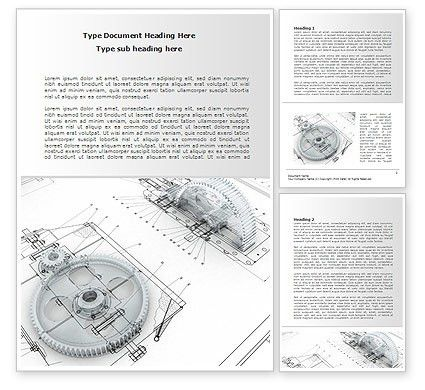 Engineering Drawing Word Template 08114 | PoweredTemplate.com