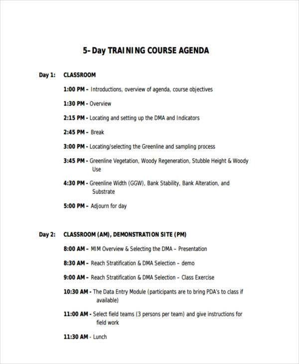 Classroom Agenda Template [Template.billybullock.us ]