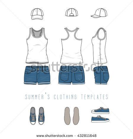 Blank Vector Templates Mens Womens Jeans Stock Vector 658530868 ...