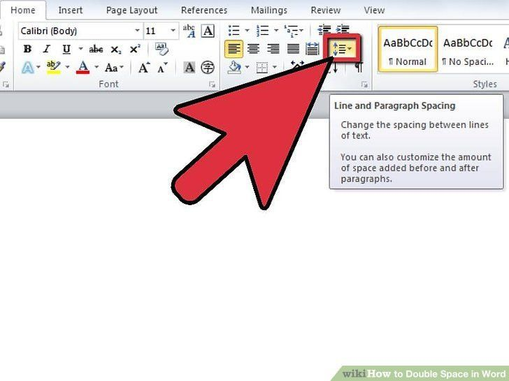 How to Double Space in Word: 12 Steps (with Pictures) - wikiHow
