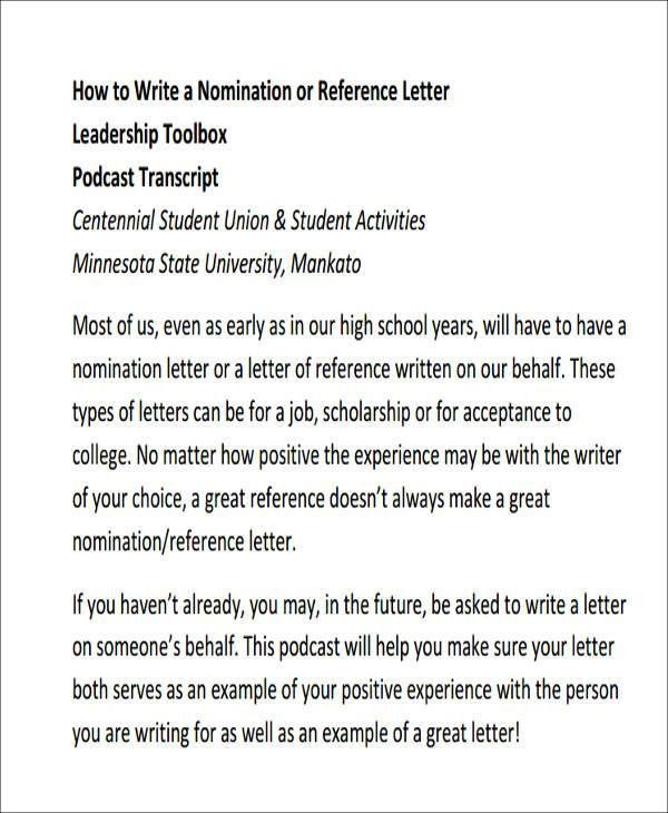 Sample Leadership Recommendation Letter - 6+ Examples in Word, PDF